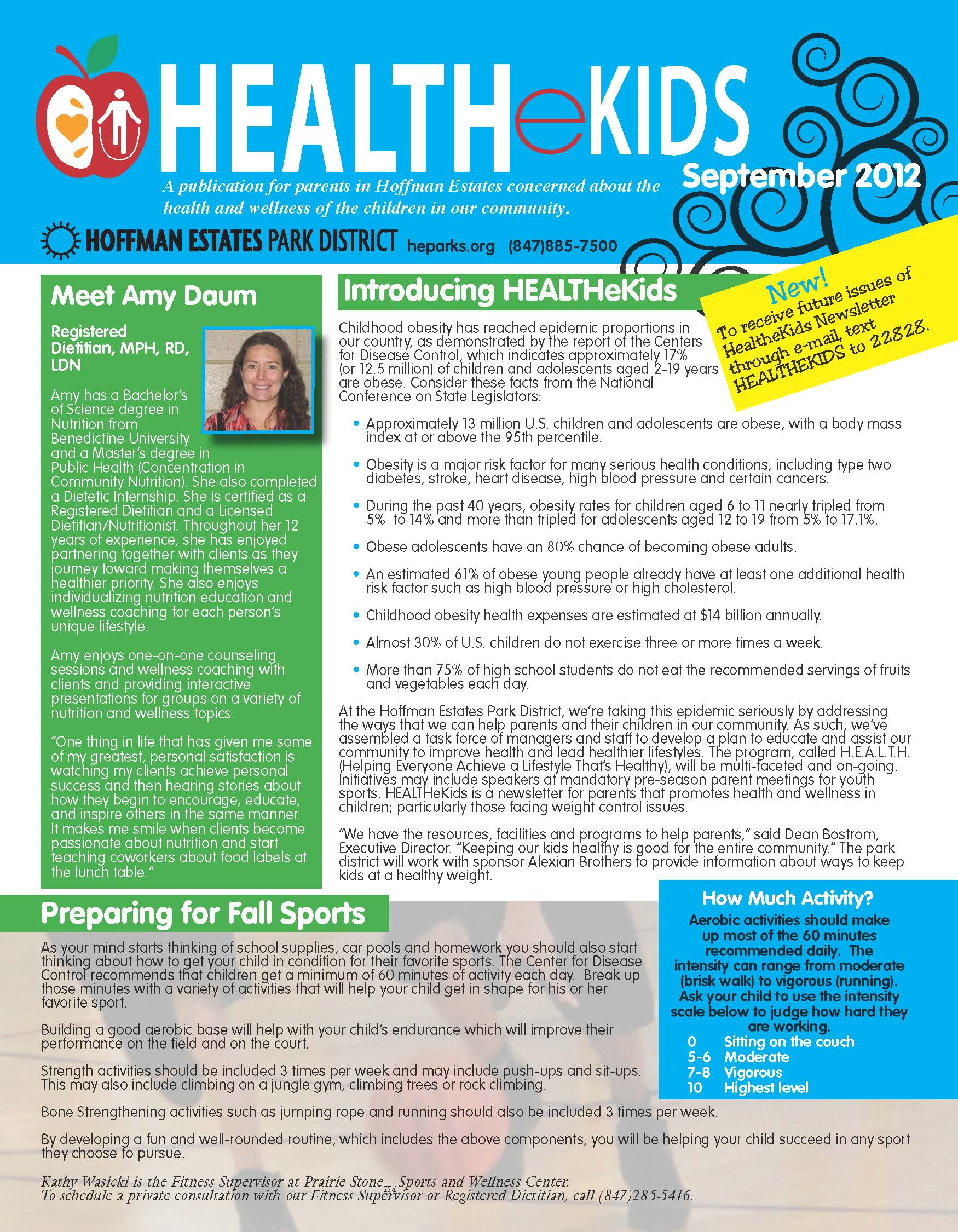 HEALTHekids front page
