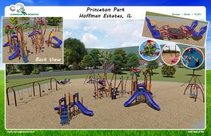 Digital design of upcoming playground for Princeton Park
