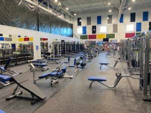 Brand new weight room expansion.