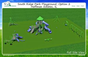 Overview of entire playground for South Ridge Park
