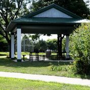 The park  shelter at Charlemagne Park
