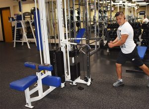 man working out at Triphahn Fitness Center